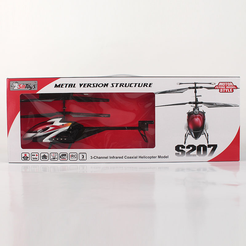 s207 3 channel RC Helicopter shatterproof selling children's toys Free shipping(China (Mainland))