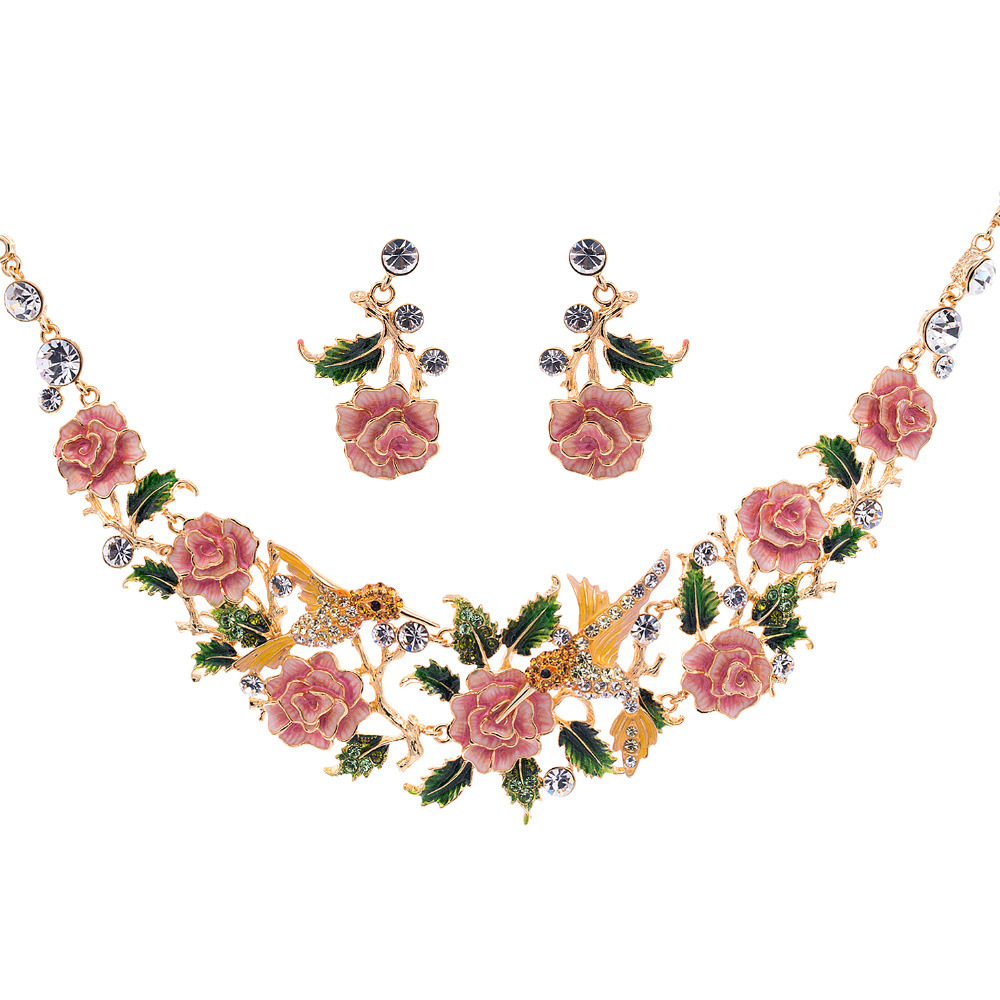 Pink Necklace Set With Price