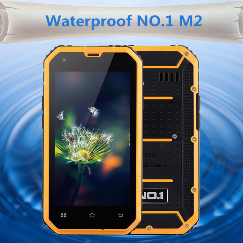 Original NO.1 M2 Rugged Waterproof phone MTK6582 Quad Core 4.5'' Android 5 1GB RAM 8GB ROM 13MP Three anti-mobile phone in stock(China (Mainland))