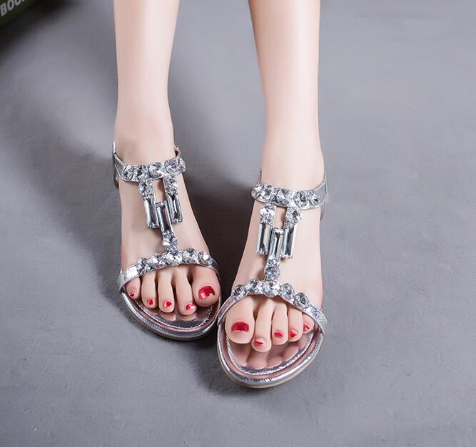 Summer Women's Shoes 2015 Fashion Bohemia Women's Sandals Crystal Sandalias Femininas Casual Tenis Feminino Wedges Shoes Women(China (Mainland))