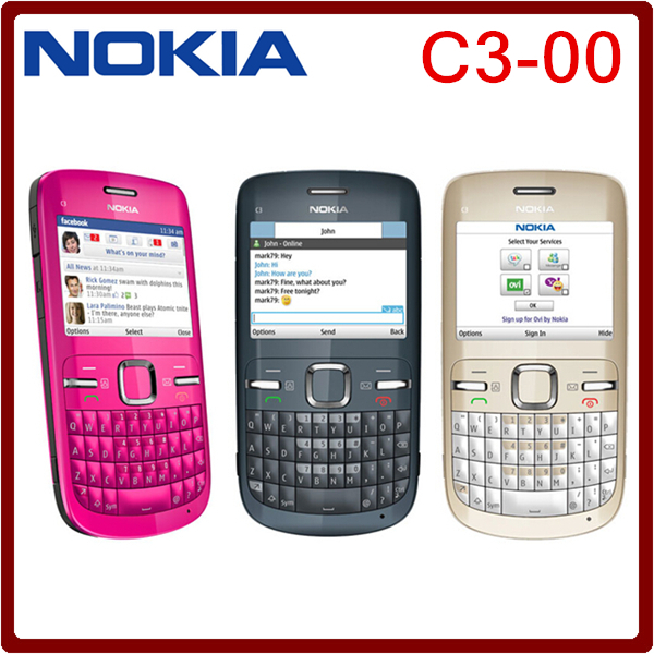 C3 Original Nokia C3-00 WIFI 2MP Bluetooth Jave Unlock Cell Phone freeshipping one year warranty(China (Mainland))