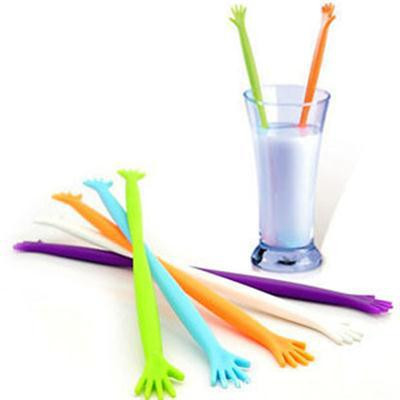 2015 New Trendy 5pcs HELP ME Soup Stirrer Stirring Juices Spoon Kitchen Drink Mixing(China (Mainland))