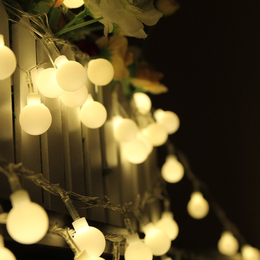 10M 100 LED Globe String Lights Warm White/White Ball Fairy Light for Party Christmas Wedding New Year Indoor&outdoor Decoration(China (Mainland))