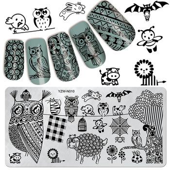 YZWLE 1 Pc Newly Lovely Animal Design Nail Stamping Plates Konad Stamping Nail Art Nails Template Nail Stamp Tools #YZW-N10