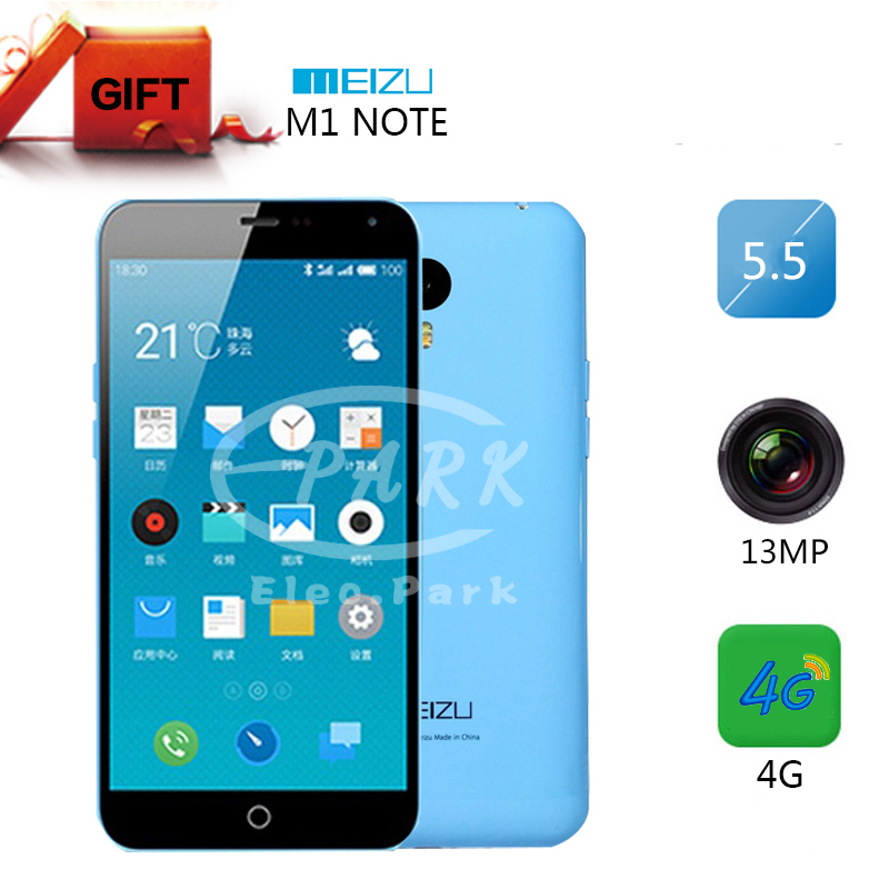 "Original Meizu M1 Note Noblue Note 4G Phone 5.5"" FHD 1920*1080P MTK6752 Octa Core 2GB RAM 16GB ROM Dual SIM Phone 13MP Camera()"