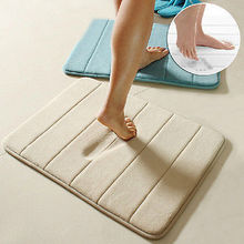 "Hot Selling Memory Foam Bath Mats Bathroom Horizontal Stripes Rug Non-slip Bath Mats 17""x24""(China (Mainland))"