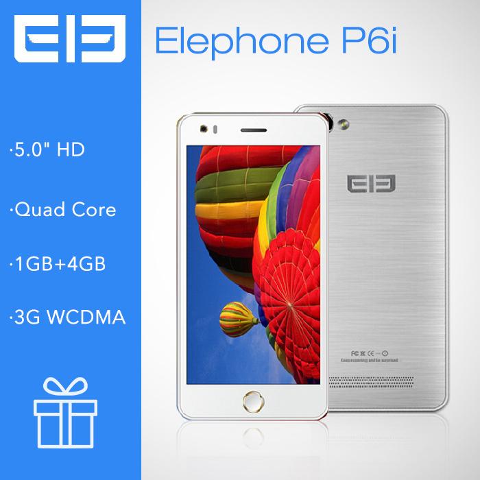 Original Elephone P6i Mtk6582 Quad Core Smartphone Android 4.4.2 5.0 inch 1GB RAM 4GB ROM 13MP Camera Russian Language 2014(China (Mainland))