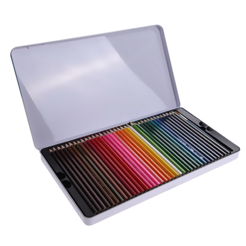Hot Sale 72 Pcs Water Color Soluble Drawing Sketching Non-toxic Pencil + Brush Artist Painting Calligraphy(China (Mainland))