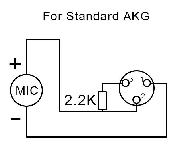 XLR 3 Condenser Microphone XLR Phantom Power Adaptor of