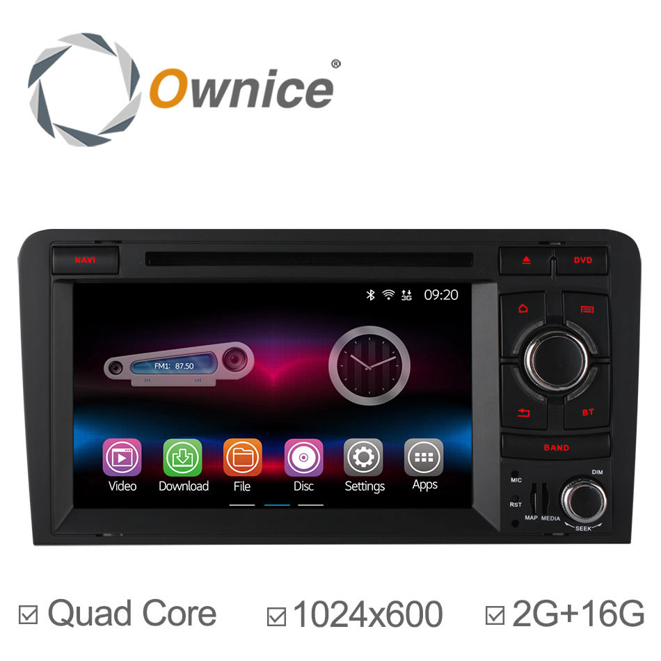 4 Core 1024*600 Car DVD Player for Audi A3 2003 2004 2005-2013 2014 GPS Navigation Android 4.4 Radio Built-in WiFi 2G RAM(China (Mainland))