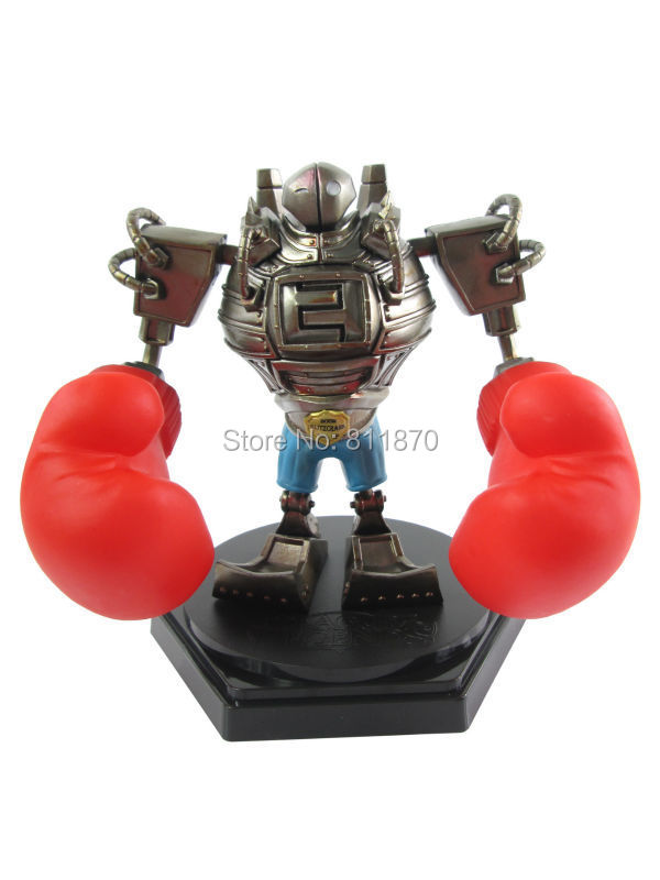Cosplay LOL Great Steam Golem Q Version 13cm/5.1 King of the Ring Blitzcrank Boxed GK Action Figures Garage Kits Free Shipping<br><br>Aliexpress