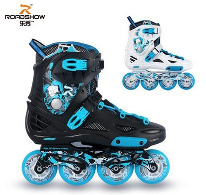 2013 Road Show-RX4s Professional Slalom Inline Skates Adult Roller Skating Shoes Braking/FSK Good Quality Rollerblade Patins(China (Mainland))