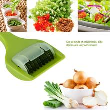 Stainless Steel Kitchen Accessories Gadgets Cooking Tools Blade Green Onion Chopper Slicer Garlic Coriander Cutter Choppe(China (Mainland))