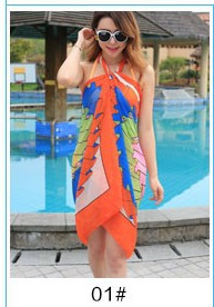 Summer beach towels bikini sun beach wrap dress chiffon scarf wholesale(China (Mainland))