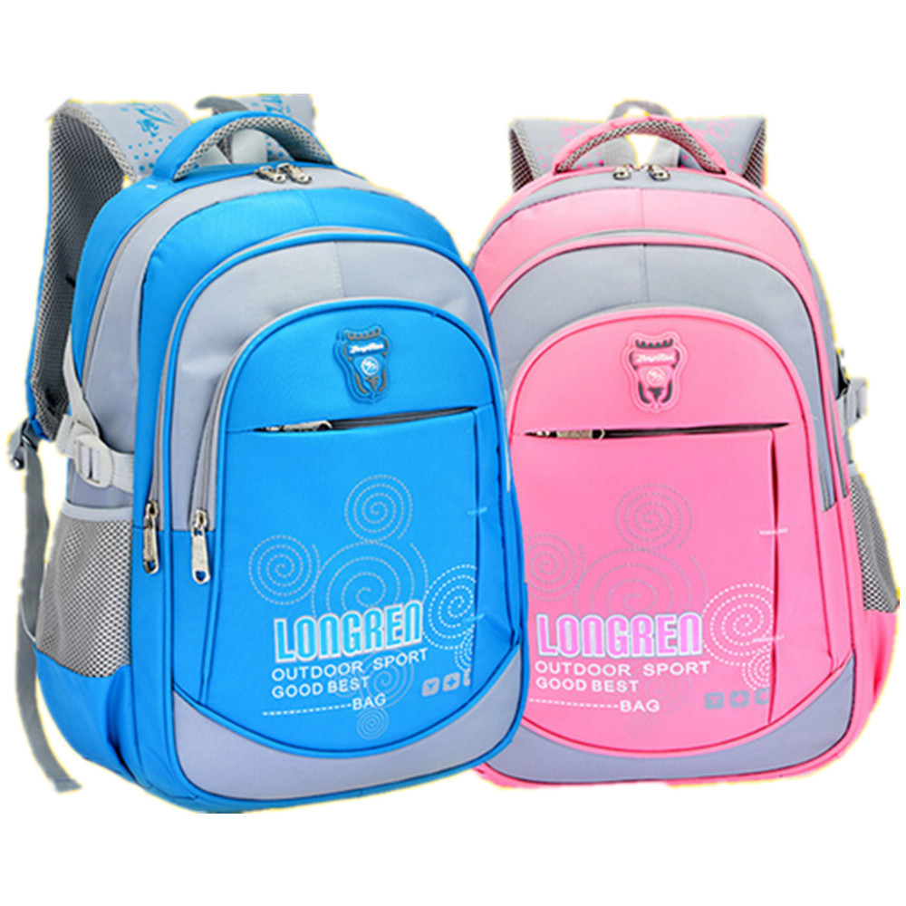 Children School Bags Boys Girls Orthopedic Backpack Kids Letter Printed Schoolbags Mochila Infantil Primary 1-6 - Baby & Honey store