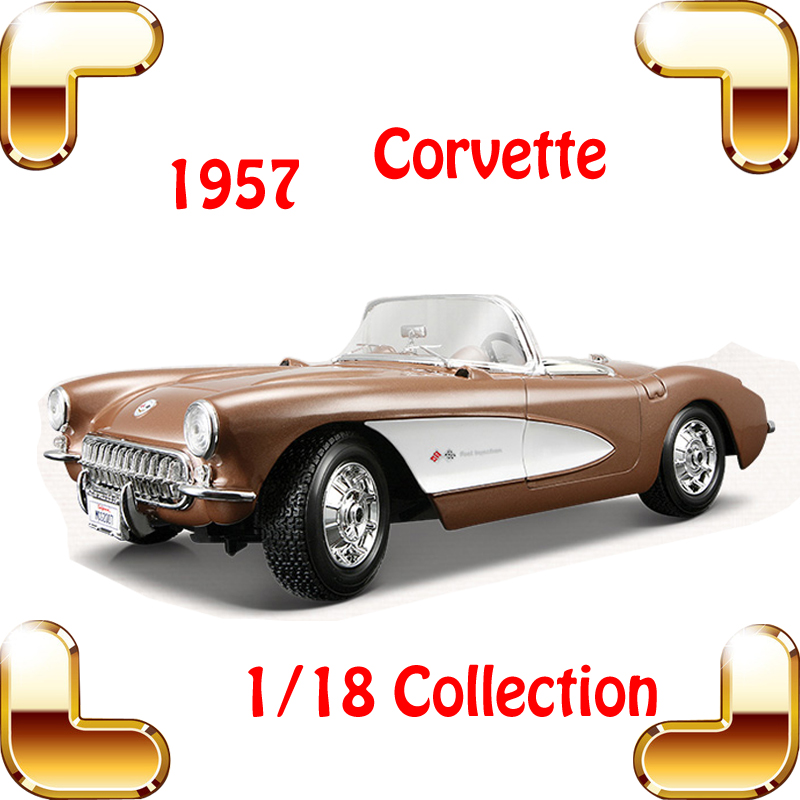 New Year Gift Maisto 1957 Corvette 1/18 Big Metal Classic Car Vehicle Scale Model Collection Alloy Luxury Delicate Present Toys(China (Mainland))