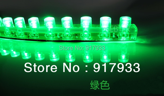 1X wholesale price Waterproof flexible Car LED Strip PVC lights 24cm 24 leds Decorate LED Bulb white blue yellow green red RGB(China (Mainland))