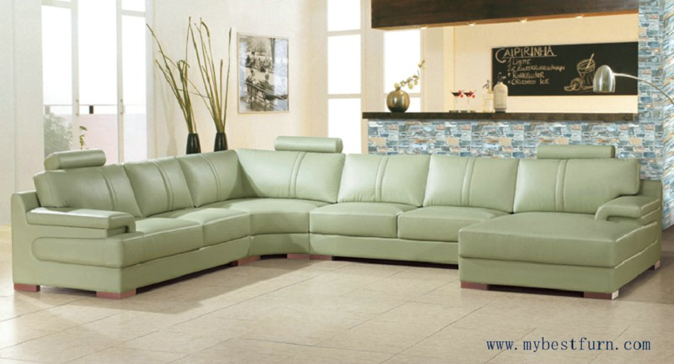 My bestfurn sofa large size leather sofa real cow leather for What size sectional for my room