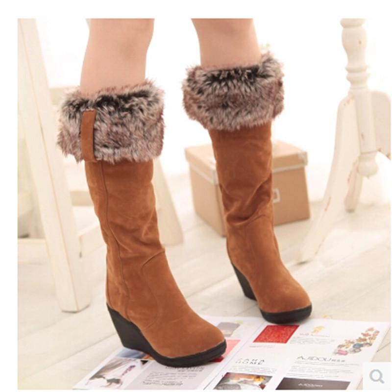 Ladies long winter boots