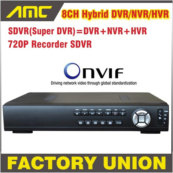 Upgrade 720P SDVR HVR/NVR/DVR All In One CCTV 8CH H.264 DVR Security System 1080P HDMI Output DVR Super 8 channel support Onvif(China (Mainland))