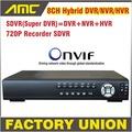 Upgrade 720P SDVR HVR NVR DVR All In One CCTV 8CH H 264 DVR Security System