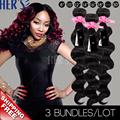 Peruvian Loose Wave Virgin Hair 3PCS Loose Wave Weave Loose curls Weave 7A Grade Peruvian Virgin