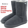 EMU Bronte Lo W20002 Cow Suede Genuine with 100 Wool inner Winter Snow Boots 5colors emu02kafei