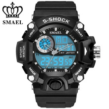 SMAEL Waterproof 30 Meters Sport Digital Watches Swimming Diving Wristwatch New Brand Analog Men Watch LED montre hommeWS1385(China (Mainland))