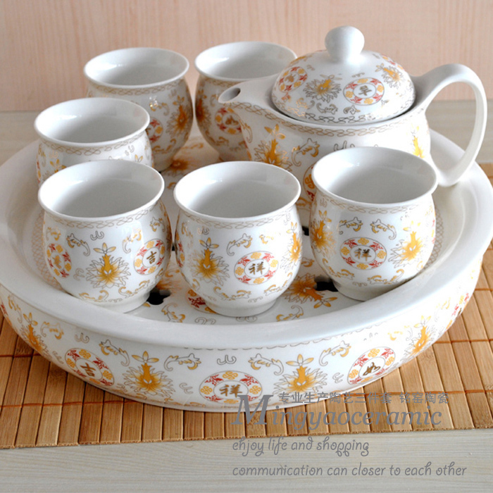 Supply of good luck Bone China Tea Set temperature ceramic kung fu tea business gifts 4180 #<br><br>Aliexpress