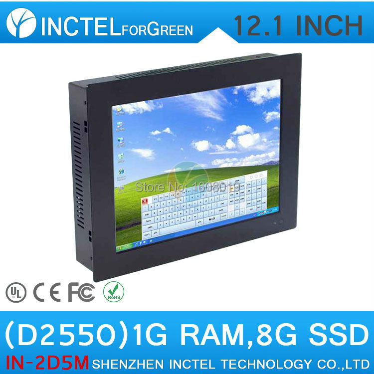All in one computer mini terminal 12 inch Five wire Gtouch using high-temperature ultra thin panel with 1G RAM 8G SSD(China (Mainland))