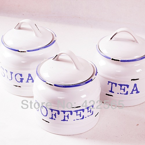 NEW! 3pcs/lot Mediterranean Style Kitchen Appliances Make-Old Ceramic Seal Pot Set Small Size High Quality,#91035(China (Mainland))