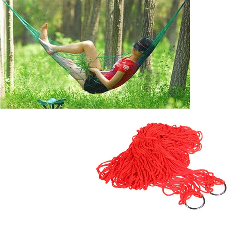 Portable High Strength Comfortable nylon sleeping Hammock Outdoor Camping Yard Sleeping Lounge Hanging Bed(China (Mainland))