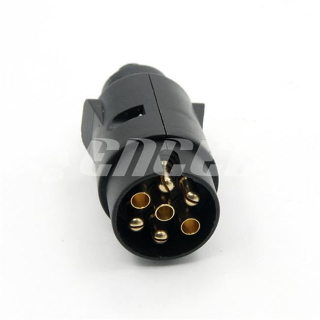 TS35 Universal Car Styling Motor Home Electrical Plug Socket RV Camper Trailer Socket Auto Caravan 7 Pin Flat Trailer Plug(China (Mainland))