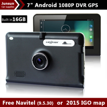 7 inch Car GPS Navigation Android Capacitive Screen 1080 DVR Recorder FM WIFI Truck vehicle gps 16G Navitel 9.5 or Europe map(China (Mainland))