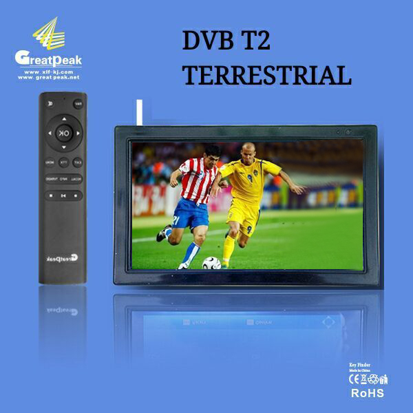 Free shipping excellent 12v LED portable digital tv dvb t2 tv mpeg4 battery powered television(China (Mainland))