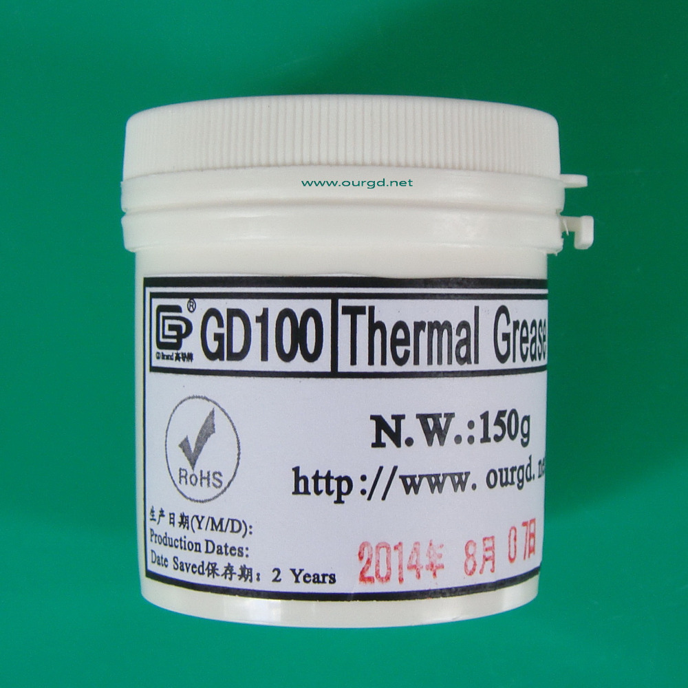 GD Brand 150g GD100 thermal conductive compound grease paste silicone heatsink compound(China (Mainland))