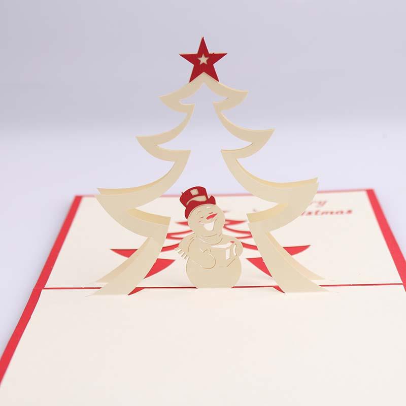 feliz mueco de nieve d tarjeta de felicitacin de navidad tarjetas d popup de