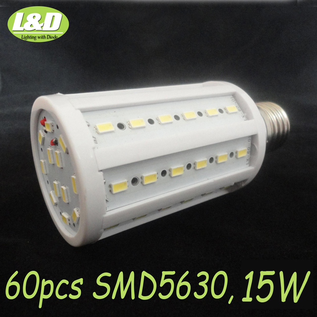15W,6pcs/lots, E27 LED corn bulb light ,warm white,pure white, 60pcs SMD 5630 LEDs,high quqlity,High-Brightness,Free Shipping