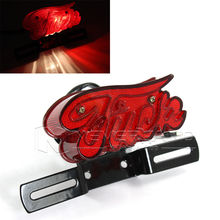 Universal Motorcycle License Plate Brake Rear Light Tail Lights for Harley Chopper Red Freeshipping D10(China (Mainland))