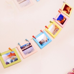 7 pcs/lot 6 Inch DIY Wall Hanging Cute Colorful Paper Photo Frame for Pictures Children Gift Free shipping 612<br><br>Aliexpress