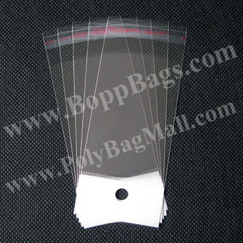 18 inches Hair Packaging Bags (10x52cm) with white header and self adhesive tape seal & Free Shipping