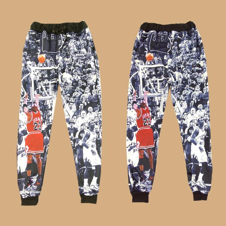 2016 Men Printed Hip Hop Men Casual Jogger Pants Jordan Play Basketball Men Joggers Sweatpants Women Men(China (Mainland))