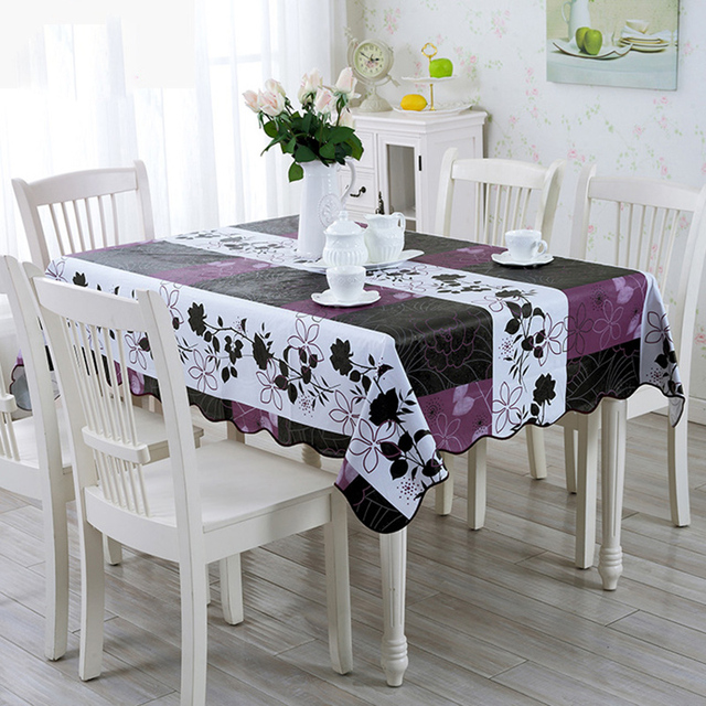 Coffee plastic table cloth dining table cloth waterproof table cloth quotes Coffee table tablecloth