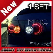 2003-2011 Car-LED Ring Style LED Tail Lights for Mazda Mazda6 Taillight Mazda6 LED(China (Mainland))