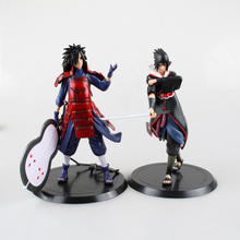 Buy 2pcs/set 18cm 18cm Naruto Figure Sasuke Uchiha Madara Action Figure Base Japan Anime Collections Gifts Model Toys for $13.55 in AliExpress store