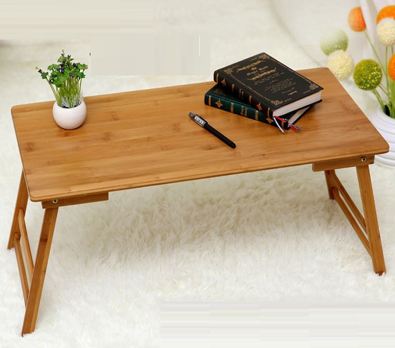 EC DAILY Computer tables bed with a small folding table and laptop bed table desk wood bamboo lazy student dormitories shipping(China (Mainland))