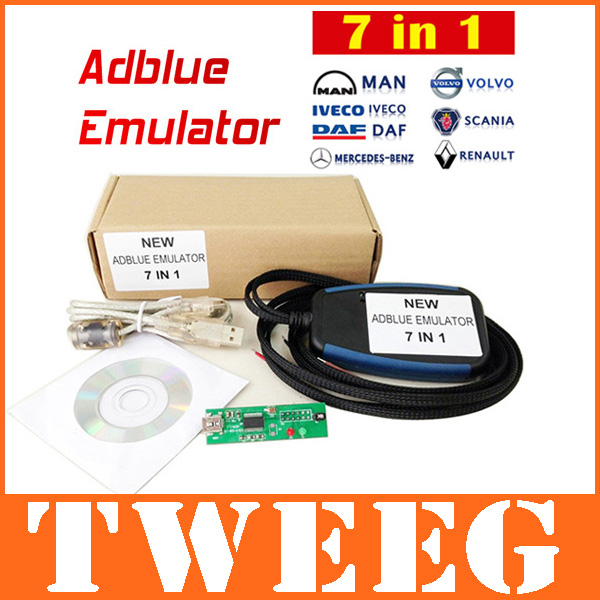 2014 Adblue Emulator Module 7in1 Emulation Truck Remove Tool For Mercedes Benz, MAN, Scania, Iveco, DAF, Volvo Renault 7 in 1(China (Mainland))