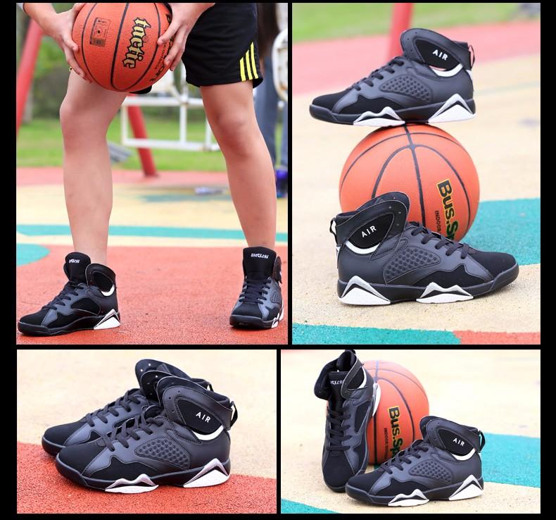 New arrival fashion authentic jordan 7 shoes comfortable british style casual shoes retro breathable men shoes