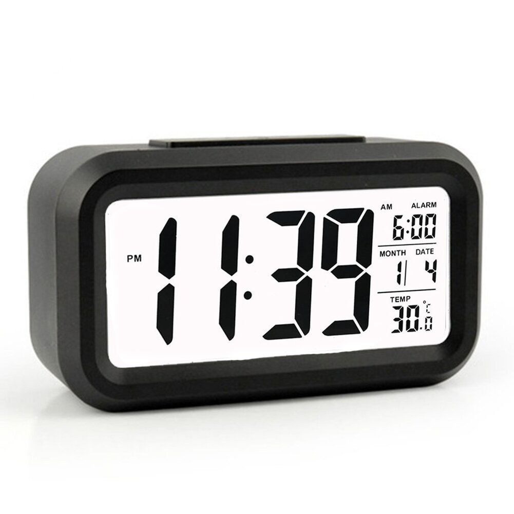 Modern Large-Display Digital Alarm Clock led with Calendar Electronic Desk Table Clocks(China (Mainland))