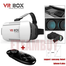 VR BOX Version VR Virtual Reality Glasses + Smart  Bluetooth Wireless Mouse / Remote Control Gamepad